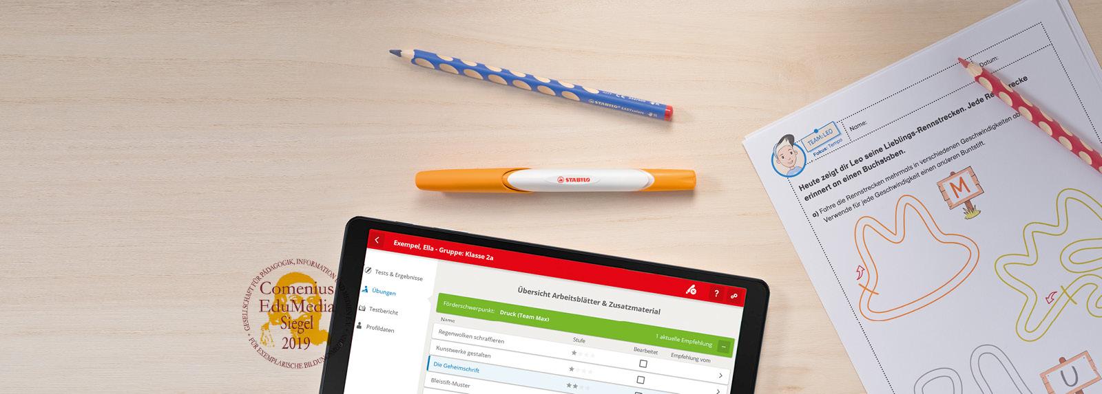 Der EduPen®: Schreiben auf Papier – Auswertung in der App