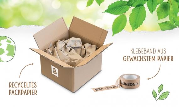 Packpapier aus wiederverwerteten Rohstoffen